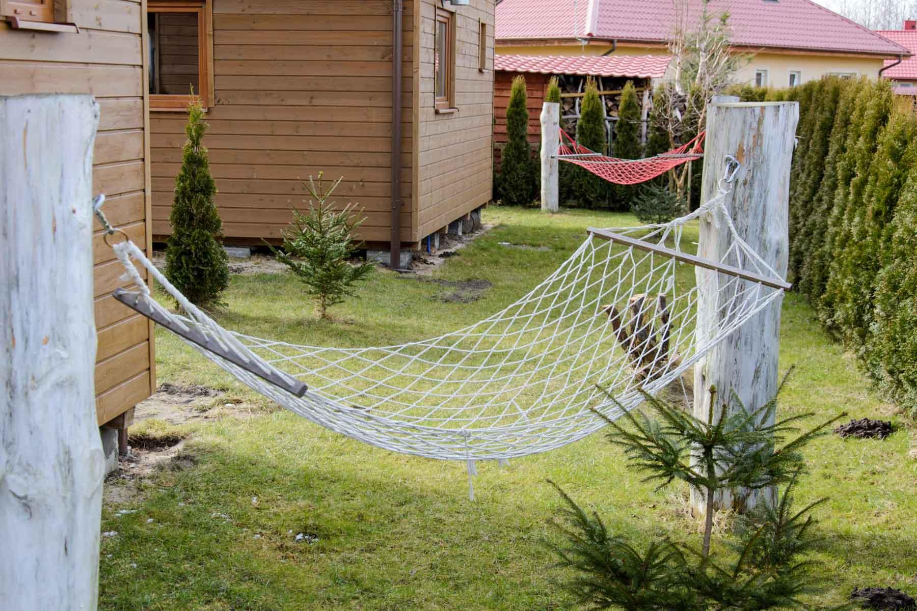 Strefa wypoczynku przy każdym domku